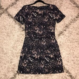French Connection dark gray patterned dress